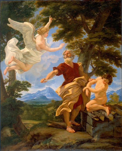 Abrahams Sacrifice of Isaac | Giovanni Battista Gaulli | Oil Painting