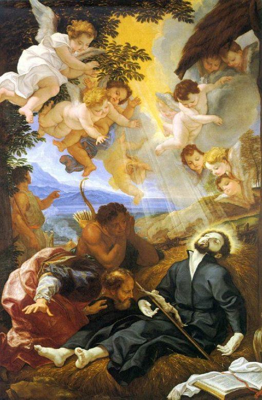 St. Francis Xavier Dying at Sancian   Giovanni Battista Gaulli   Oil Painting