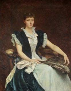 Mrs Walter Derham | Hubert von Herkomer | Oil Painting