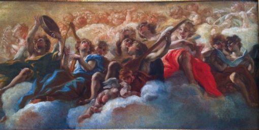 Musical Angels   Giovanni Battista Gaulli   Oil Painting