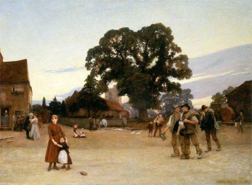 Our Village | Hubert von Herkomer | Oil Painting