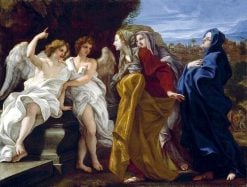 The Three Marys at the Sepulchre | Giovanni Battista Gaulli | Oil Painting