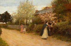Our Village Nurse | Hubert von Herkomer | Oil Painting
