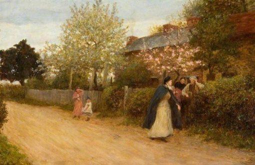 Our Village Nurse   Hubert von Herkomer   Oil Painting