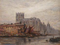 Thames-side Scene | Arthur Trevor Haddon | Oil Painting