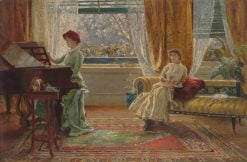An Interior with Two Women | Arthur Trevor Haddon | Oil Painting