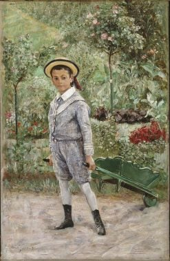 Boy with a Wheelbarrow | Ernst Josephson | Oil Painting