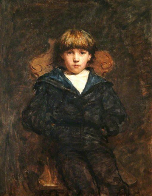 Portrait of a Boy   Hubert von Herkomer   Oil Painting