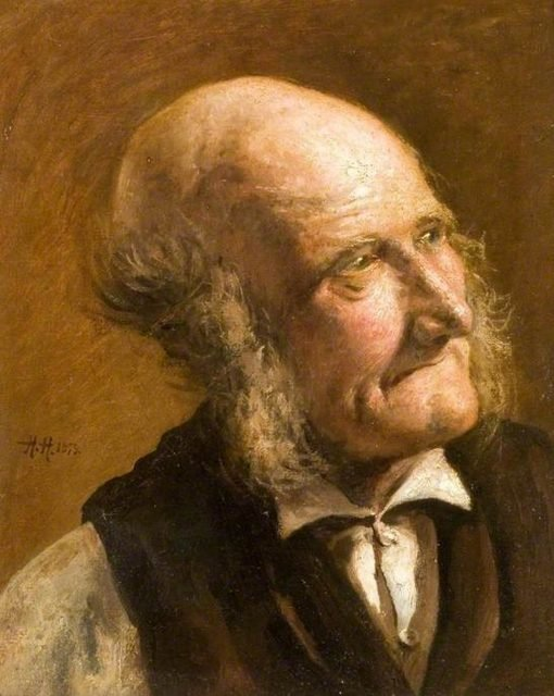 Portrait of an Old Man with Side Whiskers | Hubert von Herkomer | Oil Painting
