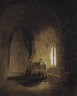 Saint Anastase (after Rembrandt) | Ernst Josephson | Oil Painting