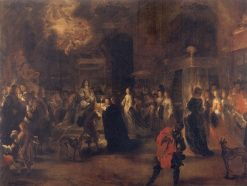 Consummation ceremony after the wedding of King Charles X Gustav and Queen Hedwig Sophia of Sweden | Jurgen Ovens | Oil Painting