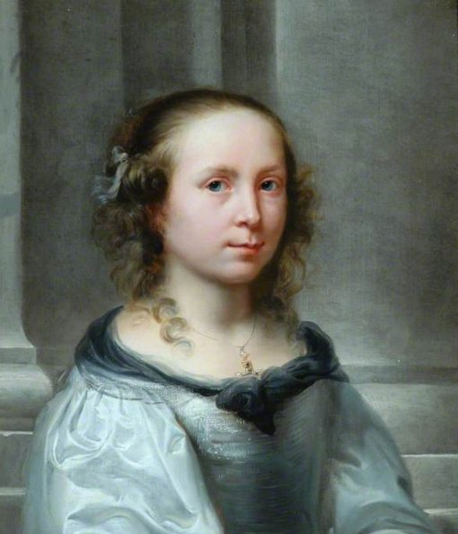 Portrait of a Girl with a Watchful Look   Jurgen Ovens   Oil Painting