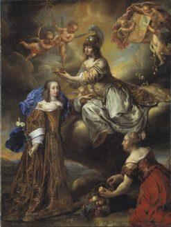 Allegory of Queen Hedvig Eleonora as Minerva | Jurgen Ovens | Oil Painting