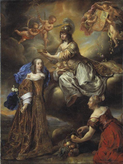 Allegory of Queen Hedvig Eleonora as Minerva   Jurgen Ovens   Oil Painting