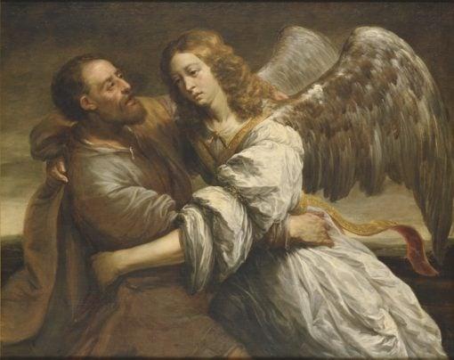 Jacob Fighting the Angel | Jurgen Ovens | Oil Painting