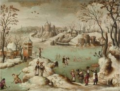 A Winter Townscape with Figures | Abel Grimmer | Oil Painting