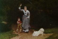 The Playful Pet | Edward Killingworth Johnson | Oil Painting