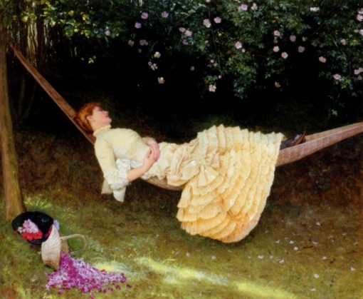 The Hammock | Edward Killingworth Johnson | Oil Painting
