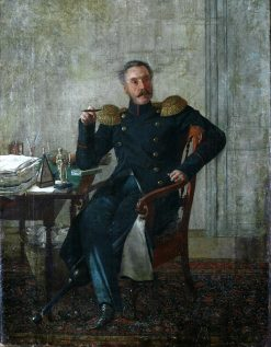 Portrait of General Ivan Arnoldi | Evgraf Fedorovich Krendovsky | Oil Painting