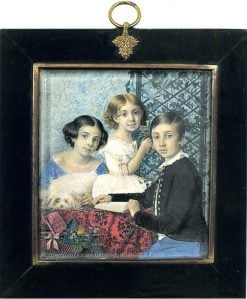 The Artists Children | Evgraf Fedorovich Krendovsky | Oil Painting