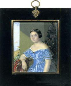 Portrait of a Lady in Blue | Evgraf Fedorovich Krendovsky | Oil Painting