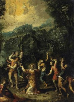 The Stoning of St Stephen | Johann König | Oil Painting