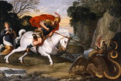 Saint George Defeating the Dragon | Johann König | Oil Painting