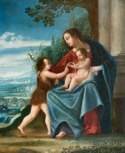 Virgin and Child with the Infant Baptist | Johann König | Oil Painting