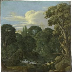 Landscape with forest pond | Johann König | Oil Painting