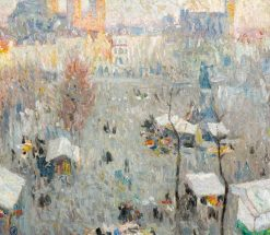 Market Day in Ghent   Gustave de Smet   Oil Painting