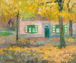 The Pink House   Gustave de Smet   Oil Painting