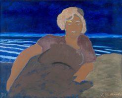 Woman at the Beach | Leon Spilliaert | Oil Painting