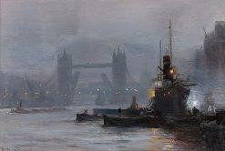 Tower Bridge at Dusk | George Hyde Pownall | Oil Painting