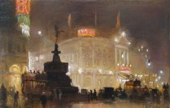 Piccadilly Circus | George Hyde Pownall | Oil Painting