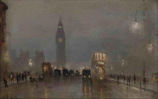 Big Ben over Westminster Bridge | George Hyde Pownall | Oil Painting