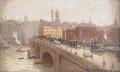 London Bridge | George Hyde Pownall | Oil Painting