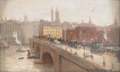 London Bridge | George Hyde Pownall | Oil Painting