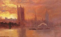 Westminster at Sunset | George Hyde Pownall | Oil Painting