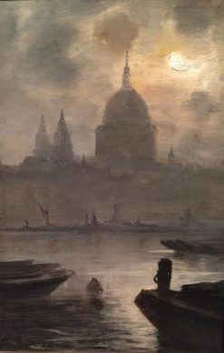 St Pauls from the River | George Hyde Pownall | Oil Painting