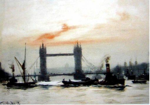 Below South Bridge   George Hyde Pownall   Oil Painting