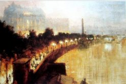 The Victoria Embankment | George Hyde Pownall | Oil Painting