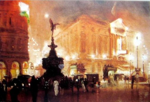 Piccadilly Circus   George Hyde Pownall   Oil Painting