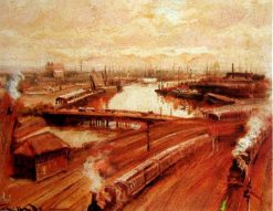 Back of St Flinders Station | George Hyde Pownall | Oil Painting