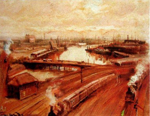 Back of St Flinders Station | George Hyde Pownall | Oil Painting