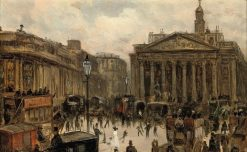 The Royal Exchange | George Hyde Pownall | Oil Painting