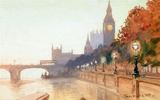 The Embankment | George Hyde Pownall | Oil Painting
