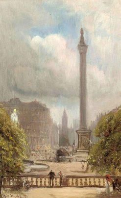 Trafalgar Square | George Hyde Pownall | Oil Painting