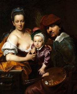 Self-portrait with a family   Jan Kupecky   Oil Painting