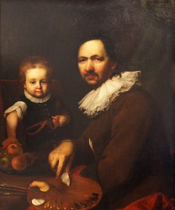 Self-portrait with Daughter | Jan Kupecky | Oil Painting