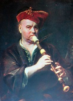 The Flute Player   Jan Kupecky   Oil Painting